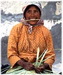 Tarahumara Indian Weaver in Copper Canyon